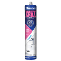 Selleys Wet Area Silicone Sealant Kitchen Bathroom & Laundry 300g