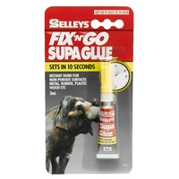 Selleys Fix N Go Supa Glue Sets In 10 Seconds - For Non Pororus Surfaces 3ml