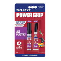 Selleys Power Grip All Plastics Super Glue Shock Resistant 3ml
