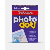 Sellotape Photo Dots Removable Acid Free Double Sided x 64 Dots