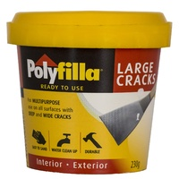 Polyfilla Large Cracks Filler Interior Exterior Water Clean Up x 230g